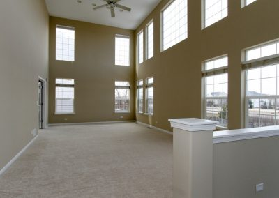 Huntley family room after